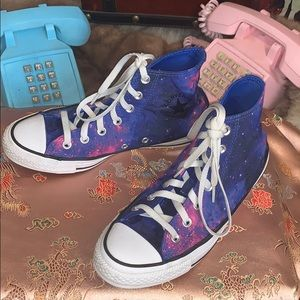 Converse All Star high tops galaxy sneakers shoes